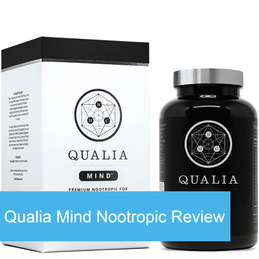 Qualia Mind box and bottle supplements