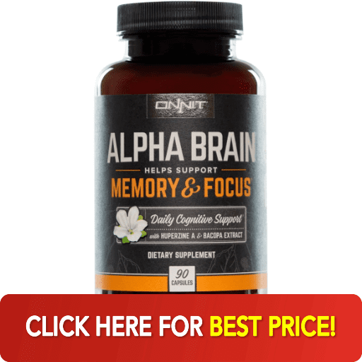 Onnit Alpha Brain supplement bottle best price