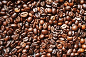 coffee beans containing caffeine