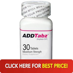 Bottle of ADDTabz with best price button