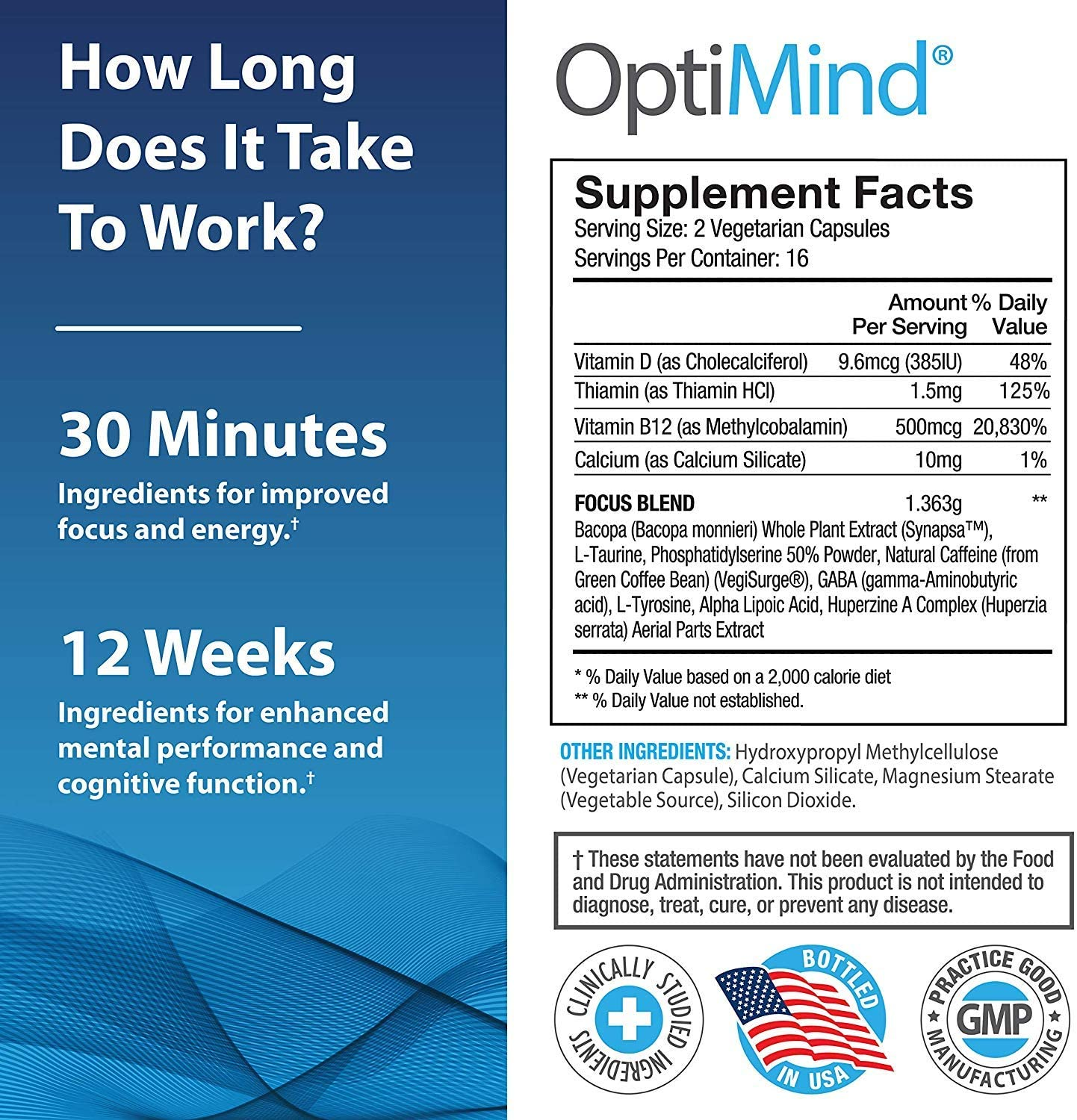 Optimind product label instructions